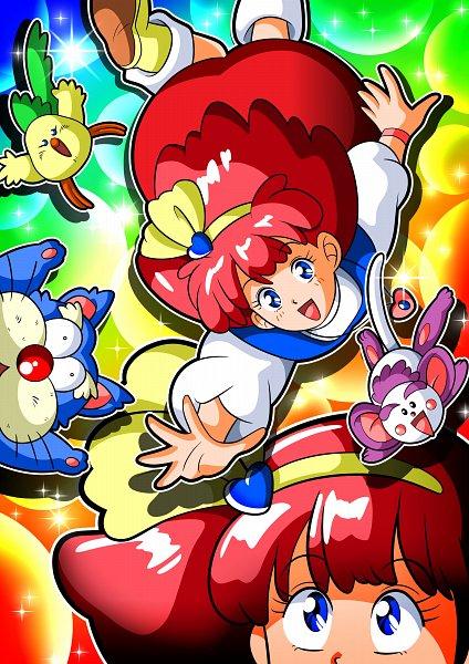 Tags: Anime, Pixiv Id 4682741, Mahou no Princess Minky Momo, Shindobu, Mocha (Minky Momo), Minky Momo, Pipiru, Monkey, Fanart From Pixiv, Fanart, Pixiv, Magical Princess Minky Momo: Hold On To Your Dreams