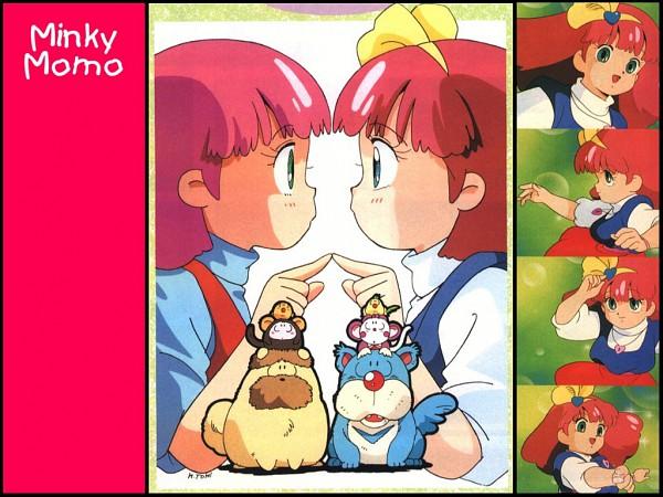 Tags: Anime, Mahou no Princess Minky Momo, Minky Momo, Mocha (Minky Momo), Pipiru, Shindobu, Monkey, Artist Request, Official Art, Magical Princess Minky Momo: Hold On To Your Dreams