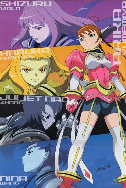 Tags: Anime, Hisayuki Hirokazu, Mai-hiME, Shizuru Viola, Arika Yumemira, Nina Wang, Juliet Nao Zhang, Haruka Armitage, Official Art