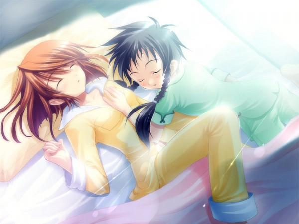 Tags: Anime, Mai-hiME, Minagi Mikoto, Tokiha Mai, Morning