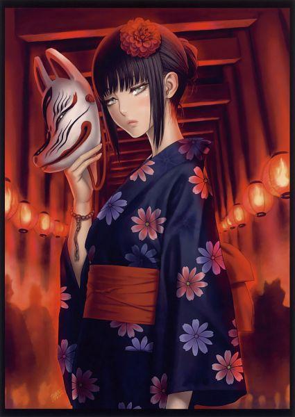 Tags: Anime, Tsukasa Jun, Avatar: The Last Airbender, Eshi 100-Nin Ten 02, Mai (Avatar: The Last Airbender), Gate, Mobile Wallpaper, Scan
