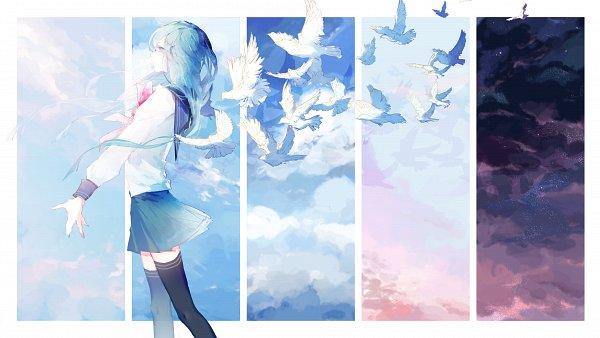 Tags: Anime, Pixiv Id 9886291, Danganronpa, Maizono Sayaka, Fanart, Fanart From Pixiv, Pixiv