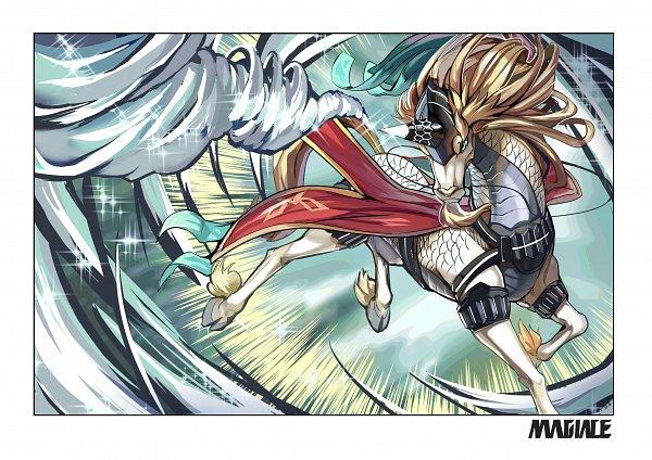 Tags: Anime, Pixiv Id 15295760, Yu-Gi-Oh!, Majespecter Unicorn Kirin, Fanart From Pixiv, Pixiv, Fanart