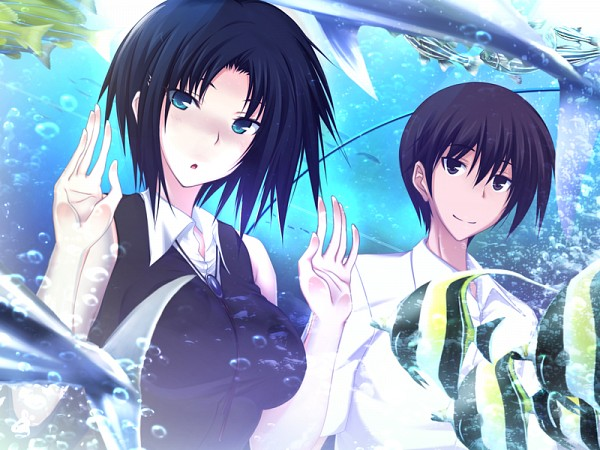 Tags: Anime, Kawagishi Keitarou, Minato Soft, Maji de Watashi ni Koi Shinasai!, Lee Jinchu, Naoe Yamato, CG Art, Do Love Me Seriously!