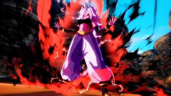 Tags: Anime, DRAGON BALL FighterZ, Majin Android 21, Android 21, Pink Skin, Wallpaper