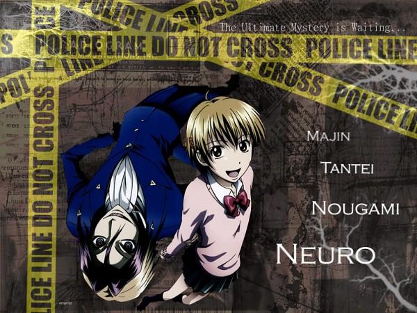 Tags: Anime, Majin Tantei Nougami Neuro, Katsuragi Yako, Nougami Neuro, Yin Yang Arrangement, Wallpaper, Demonic Detective Nougami Neuro