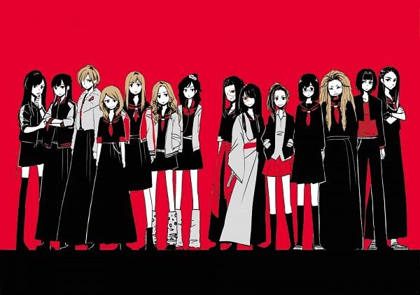 Tags: Anime, Megumiya, Majisuka Gakuen, Black (Majisuka Gakuen), Torigoya, Takahashi Minami, Kokabuki, Shibuya (Majisuka Gakuen), Maeda Atsuko, Ookabuki, Gekikara, Dance (Majisuka Gakuen), Gakuran (Majisuka Gakuen)