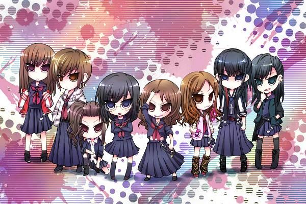 Tags: Anime, Pixiv Id 16006, Majisuka Gakuen, Black (Majisuka Gakuen), Takahashi Minami, Shibuya (Majisuka Gakuen), Maeda Atsuko, Gekikara, Oshima Yuko, Sado (Majisuka Gakuen), Torigoya, Leg Warmers, Sukajan