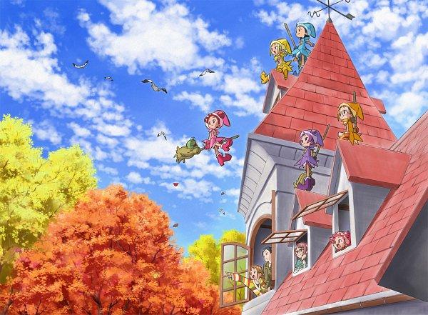 Tags: Anime, Umakoshi Yoshihiko, Toei Animation, Ojamajo DoReMi, Majo Minarai wo Sagashite, Nagase Sora, Fujiwara Hazuki, Majo Rika, Senoo Aiko, Harukaze Pop, KawataniReika, Harukaze Doremi, Asuka Momoko