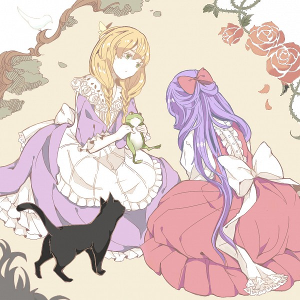 Tags: Anime, Pixiv Id 1442977, Majo no Ie, The Black Cat (Majo no Ie), Viola (Majo no Ie), Ellen (Majo no Ie), White Bird, The Witch's House