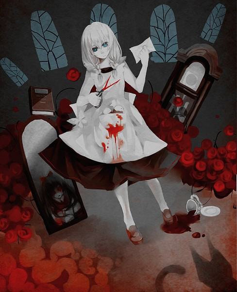 Tags: Anime, Pixiv Id 2915498, Majo no Ie, Viola (Majo no Ie), Ellen (Majo no Ie), Fanart From Pixiv, Pixiv, Fanart, The Witch's House