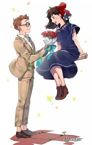 Tags: Anime, Gearous, Majo no Takkyuubin, Kiki (Majo no Takkyuubin), Tombo, Jiji (Majo no Takkyuubin), Pixiv, Fanart From Pixiv, Fanart, Kiki's Delivery Service
