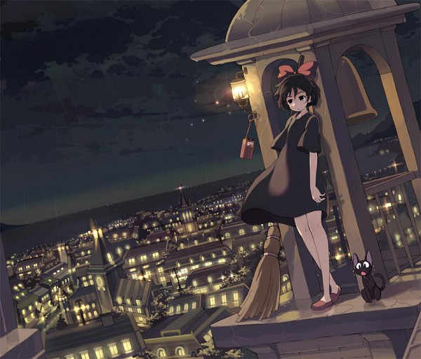 Tags: Anime, Armcho, Studio Ghibli, Majo no Takkyuubin, Jiji (Majo no Takkyuubin), Kiki (Majo no Takkyuubin), Kiki's Delivery Service