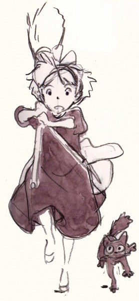 Tags: Anime, Studio Ghibli, Majo no Takkyuubin, Jiji (Majo no Takkyuubin), Kiki (Majo no Takkyuubin), Kiki's Delivery Service
