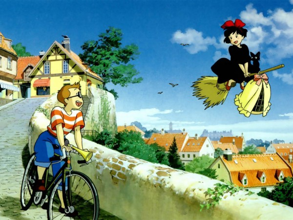 Tags: Anime, Studio Ghibli, Majo no Takkyuubin, Jiji (Majo no Takkyuubin), Kiki (Majo no Takkyuubin), Tombo, Kiki's Delivery Service