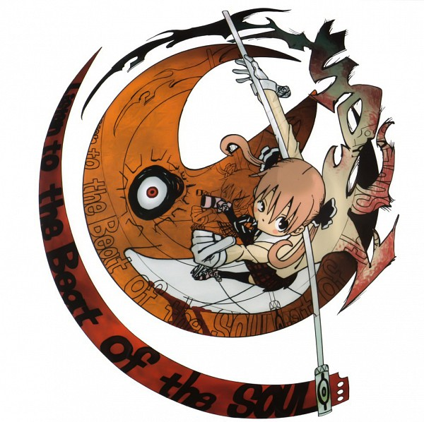 Tags: Anime, Ohkubo Atsushi, SQUARE ENIX, SOUL EATER, SOUL EATER SOUL ART, Maka Albarn, Soul Eater Evans, Soul Eater Evans (Weapon Form), Scan, Official Art