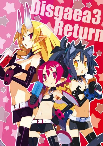 Tags: Anime, Harada Takehito, Nippon Ichi Software, Makai Senki Disgaea, Raspberyl, Stella Grossular, Official Art, Netherworld Battle Chronicle Disgaea
