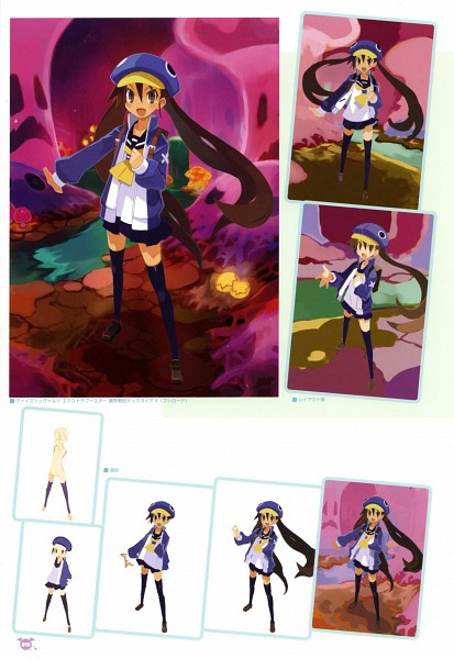 Tags: Anime, Harada Takehito, Nippon Ichi Software, Makai Senki Disgaea, Kazamatsuri Fuuka, Mobile Wallpaper, Scan, Official Art, Netherworld Battle Chronicle Disgaea
