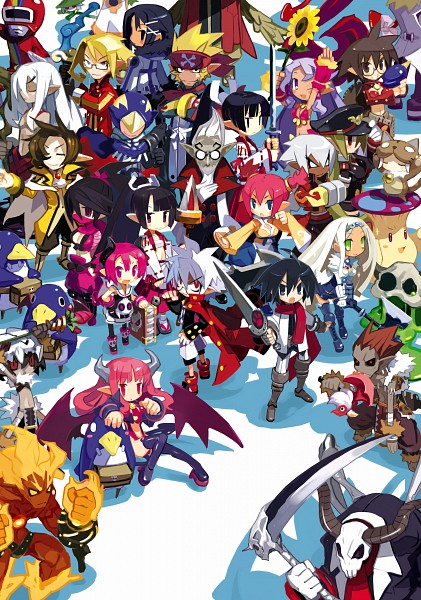 Tags: Anime, Nippon Ichi Software, Makai Senki Disgaea, Mao (Disgaea), Cheerleader (Disgaea), Ranger (Disgaea), Raspberyl, Succubus (Disgaea), Sapphire Rhodonite, Mobile Wallpaper, Netherworld Battle Chronicle Disgaea