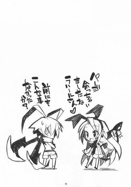 Tags: Anime, Yamamoto Keiji, Nippon Ichi Software, Makai Senki Disgaea, Laharl, Flonne, Scan, Netherworld Battle Chronicle Disgaea