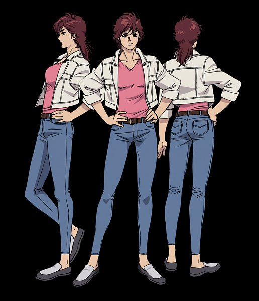 Tags: Anime, Takahashi Kumiko, Sunrise (Studio), City Hunter, City Hunter: Shinjuku Private Eyes, Makimura Kaori, Official Art, Character Sheet