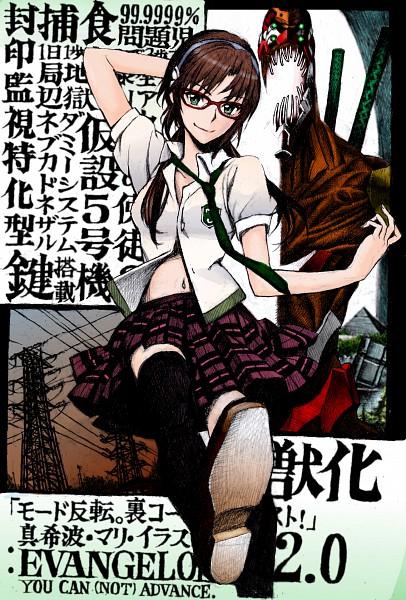Tags: Anime, Nobita, Neon Genesis Evangelion, Makinami Mari Illustrious, Mobile Wallpaper