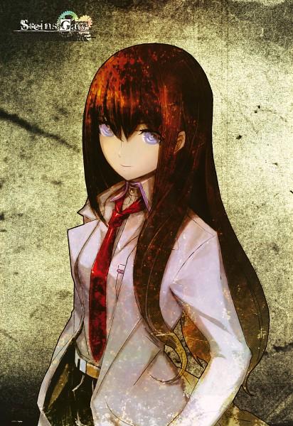 Tags: Anime, Huke, Nitro+, Steins;Gate, Makise Kurisu, Mobile Wallpaper, Official Art, Scan, Pixiv