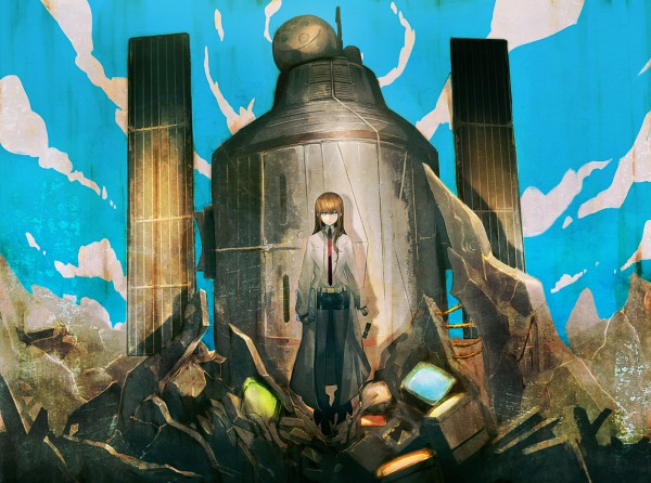 Tags: Anime, Huke, Nitro+, Steins;Gate, Makise Kurisu, Satellite, Official Art, Pixiv, deviantART