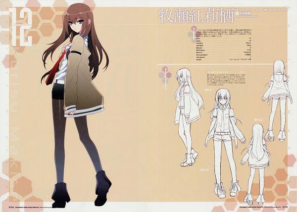 Tags: Anime, Suzuhira Hiro, Phantom Breaker Official Visual Works, Phantom Breaker, Steins;Gate, Makise Kurisu, Sketch, Official Art, Scan, Character Sheet
