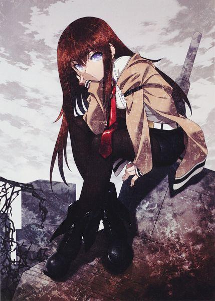 Tags: Anime, Kuuchuu Yousai, Phantom Breaker, Steins;Gate, Makise Kurisu, Mobile Wallpaper, Scan