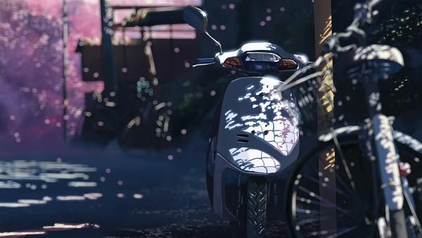 Tags: Anime, Makoto Shinkai, 5 Centimeters Per Second, Spring, Vehicle, HD Wallpaper, Facebook Cover, Wallpaper