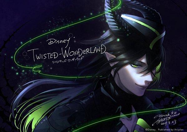 Tags: Anime, Toboso Yana, Twisted Wonderland, Malleus Draconia, Maleficent, Official Art, Twitter