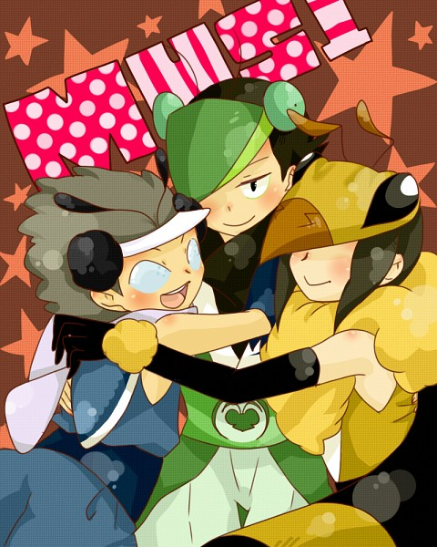 Tags: Anime, Narina, Katanagatari, Maniwa Chouchou, Maniwa Mitsubachi, Maniwa Kamakiri, Maniwani, Group Hug