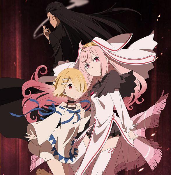 Tags: Anime, Nakayama Chiyo, EKACHI EPILKA, Maou-sama Retry!, Aku (Maou-sama Retry!), Luna Elegant, Kunai Hakuto, Official Art, Key Visual