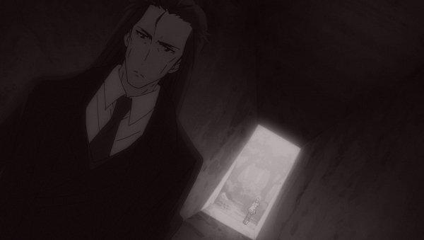 Tags: Anime, Maou-sama Retry!, Kunai Hakuto, Aku (Maou-sama Retry!), Tunnel, Age Difference, Screenshot, Official Art