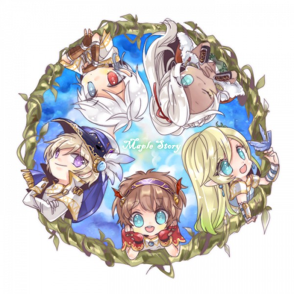 Tags: Anime, Pixiv Id 4412994, MapleStory, Phantom (MapleStory), Aran (MapleStory), Mercedes (MapleStory), Evan (MapleStory), Luminous (MapleStory), Pixiv, Fanart