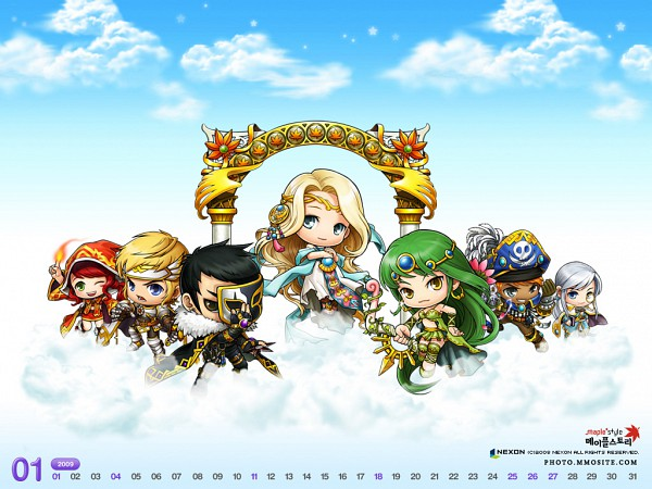 Tags: Anime, MapleStory, Eckhart (Maple Story), Neinheart (Maple Story), Mihile (Maple Story), Cygnus (MapleStory), Oz (Maple Story), Hawkeye (Maple Story), Irena (Maple Story), Official Art