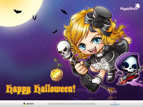 Tags: Anime, Nexon, MapleStory, Grim Reaper, Wallpaper