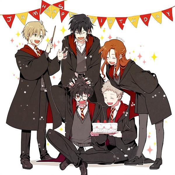 Tags: Anime, Pixiv Id 3536917, Harry Potter, Lily Evans, James Potter, Remus Lupin, Sirius Black, Peter Pettigrew, Fanart From Pixiv, Fanart, PNG Conversion, Pixiv, Marauders