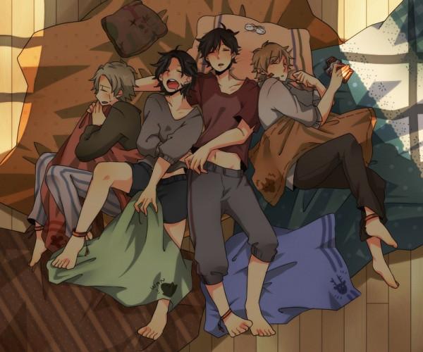 Tags: Anime, Pixiv Id 400897, Harry Potter, James Potter, Remus Lupin, Sirius Black, Peter Pettigrew, Marauders