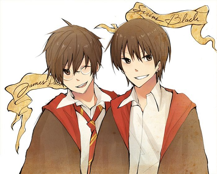 Tags: Anime, Harry Potter, James Potter, Sirius Black, Artist Request, Marauders