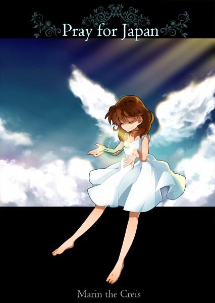 Tags: Anime, Midam, Brigadoon, Marin Asagi, Fanart, Pray For Japan, Pixiv