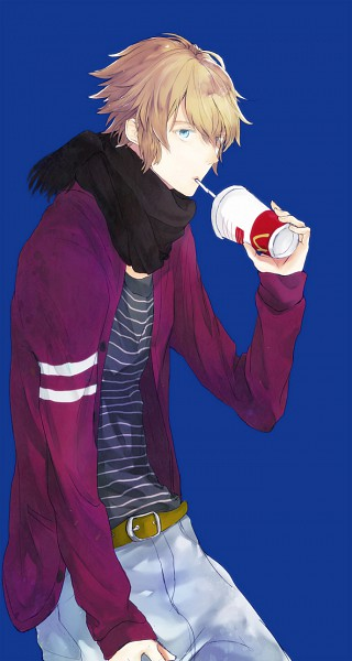 Tags: Anime, Hiro Pinkboy, Inazuma Eleven, Mark Kruger, McDonald's Meal, Mobile Wallpaper, Pixiv, Fanart