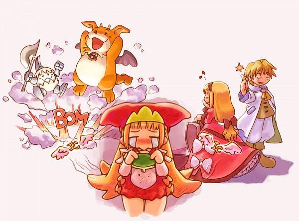 Tags: Anime, Nomura Ryouji, Nippon Ichi Software, Marl Kingdom, Kururu (Marl Kingdom), Cello (Marl Kingdom), Crea Rosenqueen, Wallet, Official Art