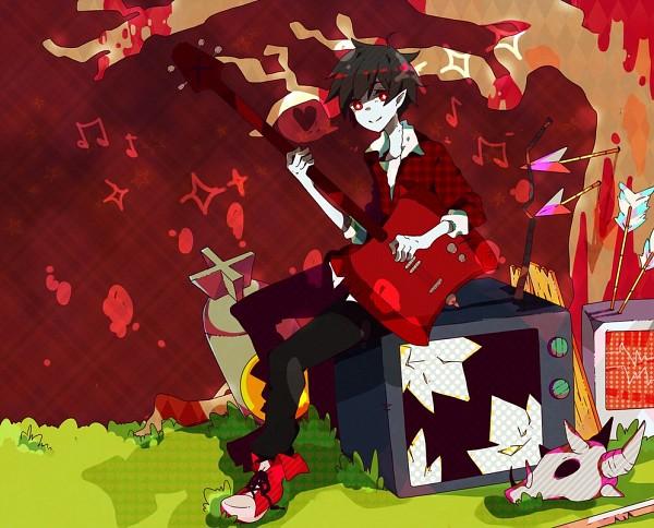 Tags: Anime, Adventure Time, Marshall Lee the Vampire King, Bass Guitar
