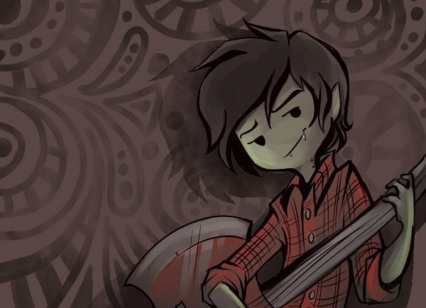 Tags: Anime, Sharpie91, Adventure Time, Marshall Lee the Vampire King, Bass Guitar, deviantART, Fanart, Fanart From DeviantART