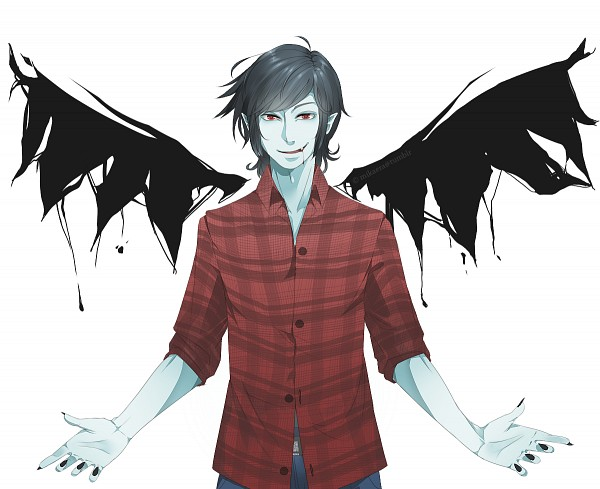 Tags: Anime, Mikioh, Adventure Time, Marshall Lee the Vampire King, deviantART, Tumblr, Pixiv, Fanart, PNG Conversion, Bad Apple!!