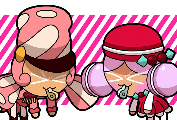 Tags: Anime, Pixiv Id 30503181, Cookie Run: OvenBreak, Cookie Run, Marshmallow Cookie, Macaron Cookie, Whistle (Object), Fanart From Tumblr, Tumblr, Fanart, Marsharon
