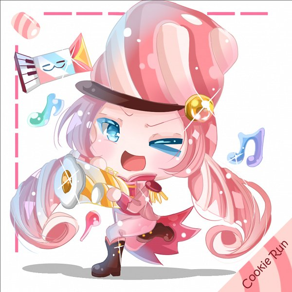 Tags: Anime, Pixiv Id 11982709, Cookie Run: OvenBreak, Cookie Run, Discordeon, Marshmallow Cookie, Accordian, Trumpet, Fanart, Fanart From Pixiv, Pixiv