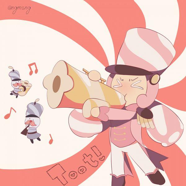 Tags: Anime, Pixiv Id 3006580, Cookie Run: OvenBreak, Cookie Run, Marshmallow Cookie, Trumpet, Fanart From Pixiv, Pixiv, Fanart